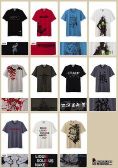 Camisetas de Metal Gear 25º en Uniqlo