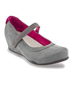 Take a look at this Gray Muse Wedge Mary Jane - Women on zulily today!