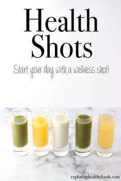 Health Shots - Exploring Healthy Foods lifestyle lifestyle fitness lifestyle healthy habits lifestyle ideas lifestyle tips Healthy Juice Recipes, Healthy Juices, Healthy Foods To Eat, Healthy Drinks, Healthy Cafe, Shot Recipes, Wrap Recipes, Salad Recipes, Juicer Recipes