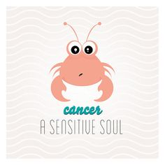 Baby Horoscope_Cancer_Zodiac_print_illustration by SquireSquare, €15.00