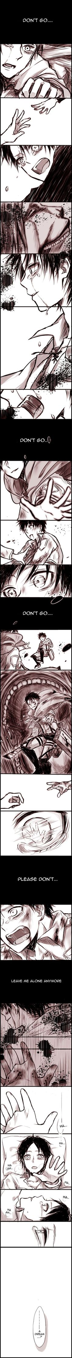 Rivaille (Levi) x Eren Jaeger  I literally cried when I saw this