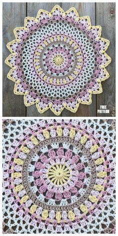 Sunset Mandala Free Crochet Pattern Sunset Mandala Free Crochet Pattern Related posts:FREE Crochet Sassy Sunflower Afghan pattern @ Mom's Love of Crochet.Sunflower Crochet PatternSummer Dress Free Crochet Patterns – Round up by. Crochet With Cotton Yarn, Thread Crochet, Crochet Crafts, Crochet Yarn, Crochet Stitches, Crochet Projects, Crochet Coaster, Free Crochet Doily Patterns, Crochet Designs