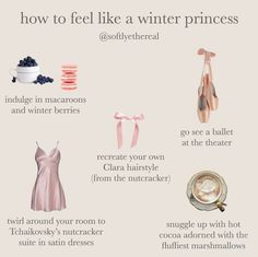How to feel like a winter princess indulge ín macaroons at the theater recreate your own (from the nutcracker) twirl around your room to snuggle with hot - iFunny :) in 2020 Classy Aesthetic, Angel Aesthetic, Aesthetic Collage, Pink Aesthetic, Winter Princess, Vintage Princess, Princess Style, Princess Aesthetic, Thing 1