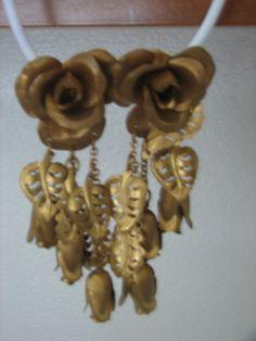 Vintage Clip Earrings  Roses by LillysTreasureChest on Etsy, $9.00