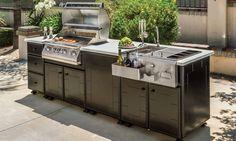 Outdoor Kitchens > Kitchen Islands > Grill & Bar Center Island - Gensun Casual Living