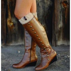 Taupe Button Boot Cuff - $15.00