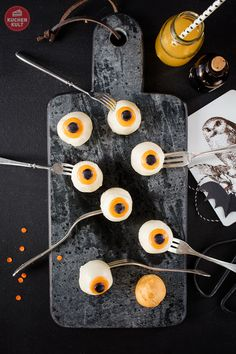 Halloween, Monster, Torte, Snacks, Cake Pops, Augen