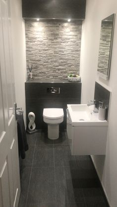You are in the right place about Downstairs Bathroom decor Here we offer you the most beautiful pictures about the Downstairs Bathroom ideas you are looking for. When you examine the Downstairs Bathroom Bathroom Design Tool, Toilet Design, Bathroom Interior Design, Bad Inspiration, Bathroom Inspiration, Modern Bathroom, Small Bathroom, Bathroom Ideas, Neutral Bathroom