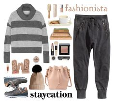 """staycation"" by bodangela ❤ liked on Polyvore featuring H&M, Alice + Olivia, New Balance, Sophie Hulme, Burberry, Louis Vuitton, Bobbi Brown Cosmetics, Zephyr, Michael Van Clarke and HAY"