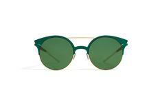 MYKITA - DECADES SUN / PHILOMENE / Gold/ Opal Glas: Brilliantgreen Solid