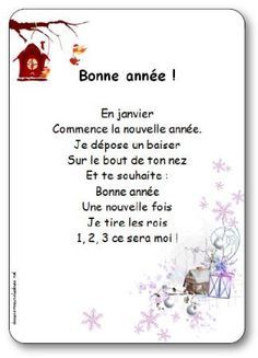 New Years Rhymes Brand New Year Kids Back To School Rhymes And Songskids Read And, New Years Rhymes Songs Lyrics For Cheer The Year With A, New Years Rhymes Songs Lyrics For Almond Cookies With A, French Teaching Resources, Teaching French, French Poems, French For Beginners, Education And Literacy, French Christmas, French Classroom, 1st Grade Worksheets, French Teacher