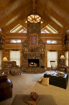 river rock fireplaces pictures | river rock huge fireplace