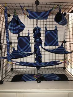15 Piece Sugar Glider Cage Set Seamless