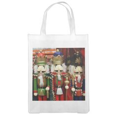 Three Wise Crackers - Nutcracker Soldiers Market Totes by I_Love_Xmas
