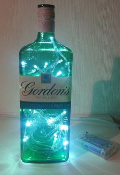 Gordon's Gin Bottle Light Lamp with 30 White by AfterGlowsByStacey, £20.00