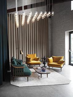 and tradition 3 Days of Design 2016 Copenhagen, September Hotel Interiors, Office Interiors, Design Interiors, Lobby Interior, Interior Architecture, Deco Restaurant, Hotel Lobby Design, Lounge Design, Chair Design