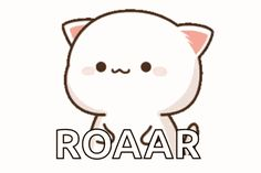 Roar Cat GIF - Tenor GIF Keyboard - Bring Personality To Your Conversations | Say more with Tenor Cute Anime Cat, Cute Cat Gif, Cute Anime Pics, Cute Love Memes, Cute Love Gif, Cute Love Cartoons, Cute Cartoon Pictures, Cute Love Pictures, Chibi Cat