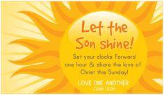 Son Shine Daylight Saving Begins Holidays eCards - Free Christian Ecards Online Greeting Cards