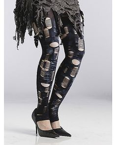 Zombie Tattered Tights - Spirithalloween.com
