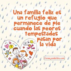 Inspirational Phrases, Motivational Phrases, Good Morning Wishes, Good Morning Quotes, Love My Family, Marriage Life, Family Memories, Spanish Quotes, Family Quotes