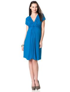 Seraphine Short Sleeve Knot Front Maternity Dress