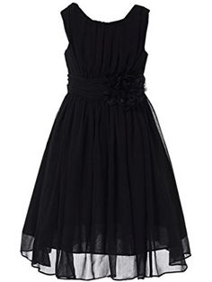 ea6217c8bca Amazon.com  Bow Dream Flower Girl Dress V-Neckline Chiffon  Clothing