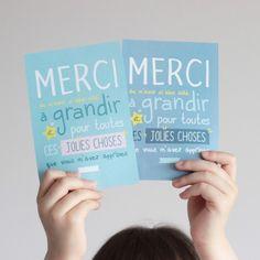 "Carte ""Merci maîtresse / maître / nounou / ATSEM / AVS """