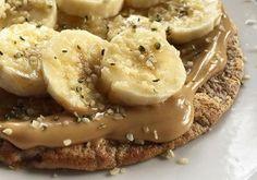 Panqueca fit com pasta de amendoim para ganhar energia