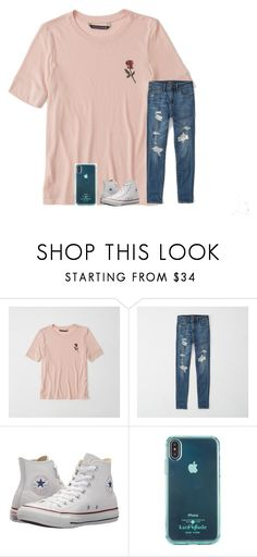 """""""Untitled #6689"""" by laurenatria11 ❤ liked on Polyvore featuring Abercrombie & Fitch, Converse and Kate Spade"""