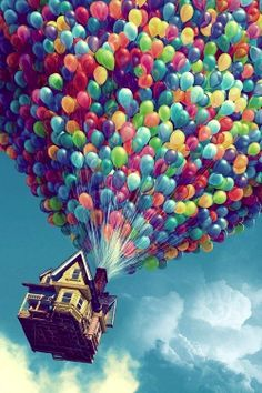 Drift away with balloons, out into the nothingness. What awaits?
