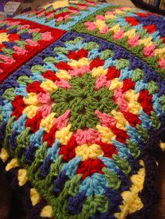 Spiky Granny Square Motif By Jacquie-Bunny Mummy - Free Crochet Pattern - (ravelry)