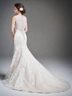 This dress was made for the winter bride... Stunning, elegant and detailed!  Corded Embroidery Lace / English Net / Organza / Satin
