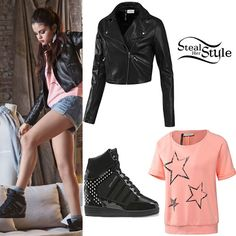 Selena Gomez at the NEO Adidas Winter collection 2013 photoshoot -photo: eonline