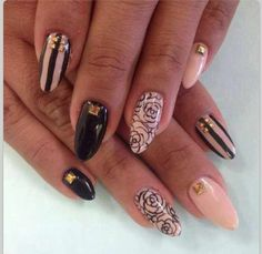 Colored French Manicure - maybe not this design but i like this idea!