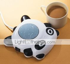 Cute Panda Style Desktop Mug Coffee Cup Warmer