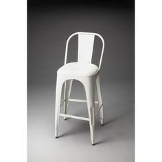 Alliance Vintage White Bar Stool Bar Height (28 To 36 Inch) Bar Stools Kitchen & Dining F