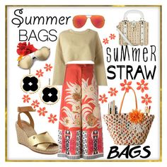 """""""Sunset & STRAW bags ☆"""" by bostonlauren ❤ liked on Polyvore featuring Etro, Wildfox, adidas Originals, Kate Spade, Quay, Asha by ADM, Tory Burch, Yves Saint Laurent, Dolce&Gabbana and strawbags"""