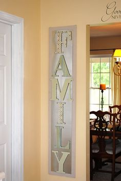 Giant Magnet letters you can change out to say whatever you want as the seasons change... ummm YES PLEASE!