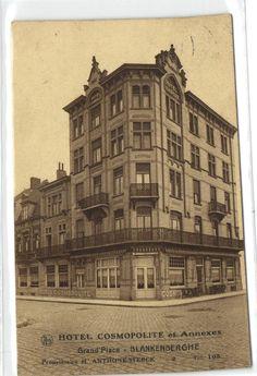 urbitrend-collectables - 1 postcard Belgium Blankenberghe hotel cosmopolite et annexes  proprietaire A Sterck, €6.50