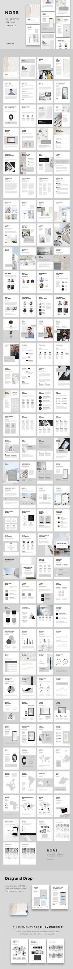 NORS A4 US Letter Vertical Keynote Template — Keynote KEY #device #key • Available here ➝ https://graphicriver.net/item/nors-a4-us-letter-vertical-keynote-template/20648223?ref=pxcr