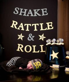 shake rattle and roll   rock and roll baby shower