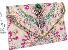 Accessorize Digi Gem Clutch and other apparel, accessories and trends. Browse and shop 8 related looks. Beaded Clutch, Beaded Purses, Beaded Bags, Beautiful Bags, Clutch Purse, Beaded Embroidery, Evening Bags, Purses And Handbags, Pink Handbags