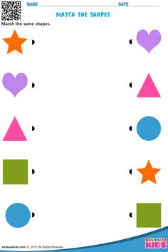 Printable shapes worksheets for kids & preschoolers. These preschool help kids to recognize and match the shapes square, circle, triangle etc. Nursery Worksheets, Shapes Worksheet Kindergarten, English Worksheets For Kids, Shapes Worksheets, Preschool Learning Activities, Preschool Worksheets, Shape Activities, Vocabulary Activities, Free Preschool