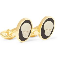 Be the handsome, dark and mysterious man of the office with these skull cameo cufflinks. Wear these Paul Smith cufflinks with a mohair suit for a dapper rebellious look. Shop here now http://rstyle.me/~1gH50
