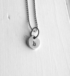 Sample Sale Tiny Initial Necklace Letter h by GirlBurkeStudios, $18.00
