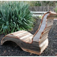 Short Lady Reclaimed Wood Lounge Chair