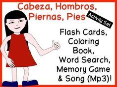 Cabeza, Hombros, Piernas, Pies - Activity Set with Song (Mp3)