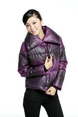 wide collar down jacket fashion    $108.00