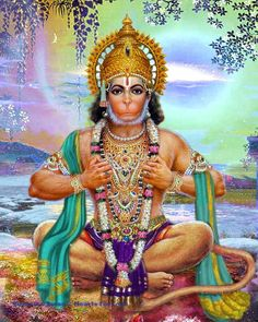 A beautiful fine art print of Lord Hanuman