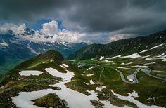 Photo --Alpine Road-- by Marek Kijevský on Perfect Image, Landscape Photographers, Alps, Prague, Austria, Places To Travel, Mount Everest, Dubai, Fine Art Prints